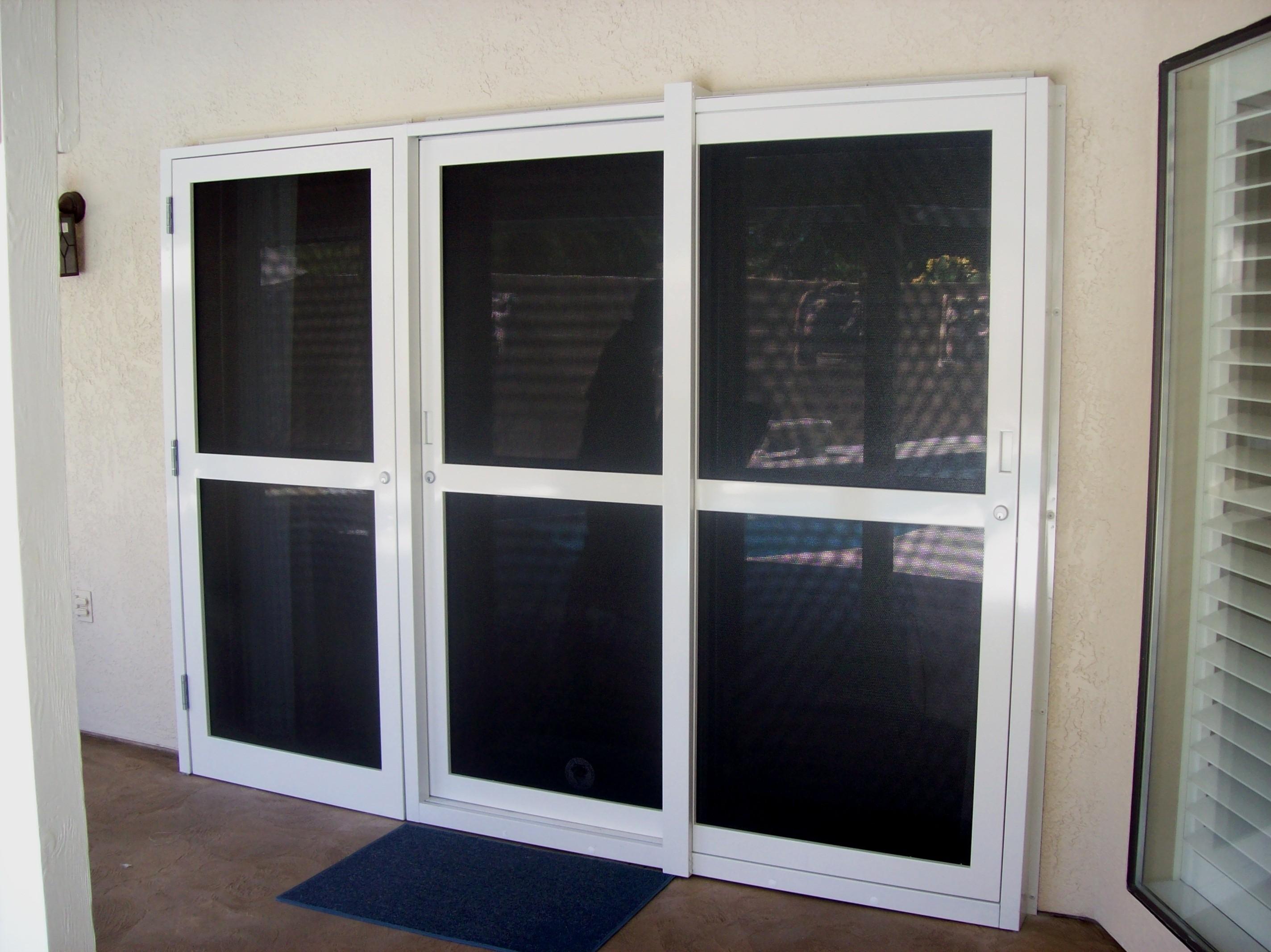 Patio Door 3 Panel Sliding Glass Patio Doors