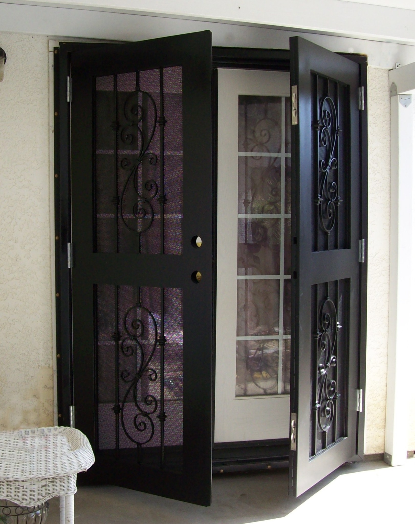 Screen doors for french windows