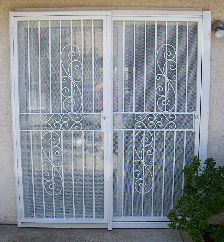 images of security gates sliding doors woonv com handle idea
